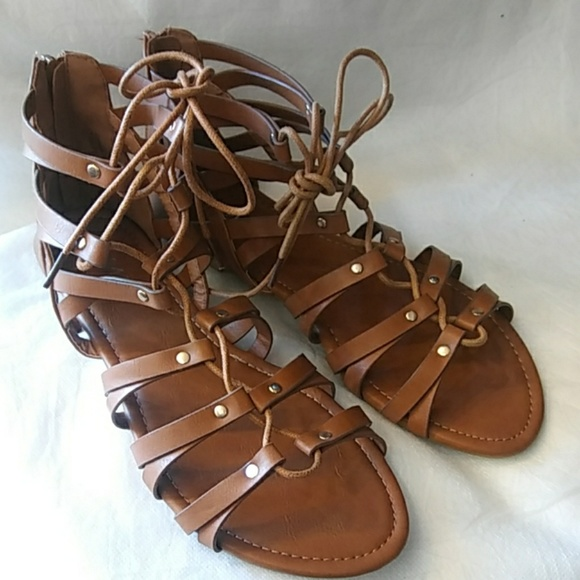 be39efcaa057 Women s Lace Up Sandals Roma Style. Boutique. Anna